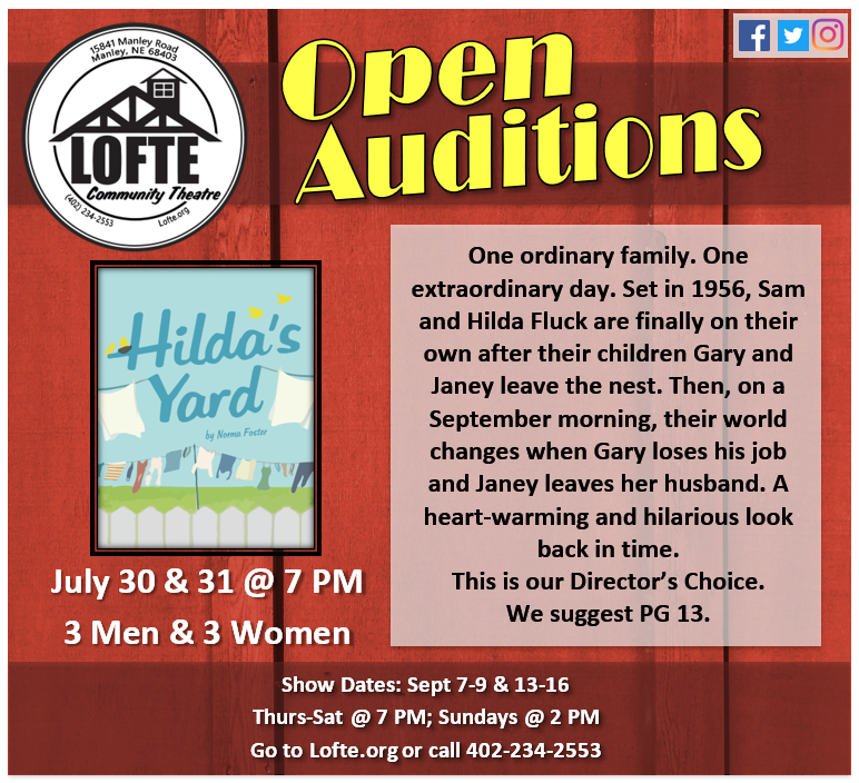 Auditions Hildas Yard