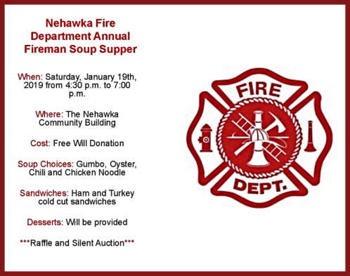 Nehawka Fire Soup Supper 2019