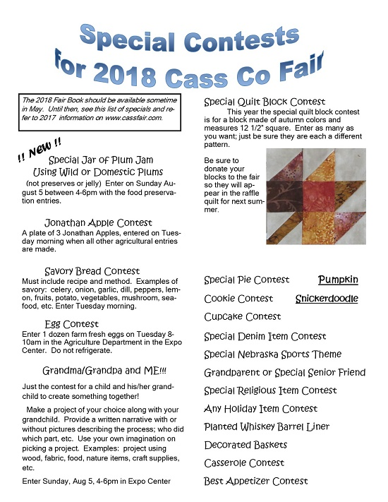 2018 Fair Special Contests Quilt